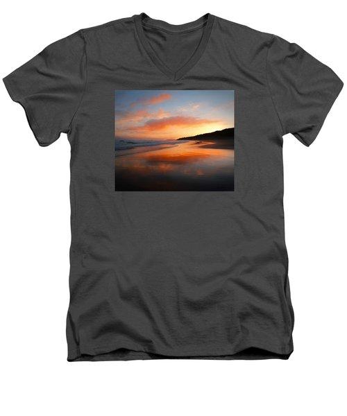 Sunrise Reflection Men's V-Neck T-Shirt by Roy McPeak