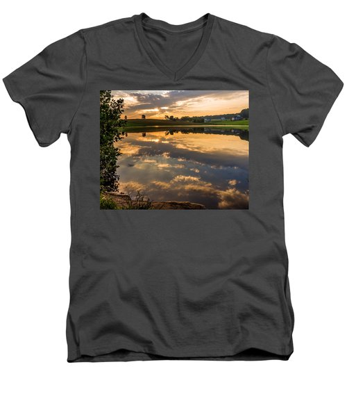 Sunrise Reflections Men's V-Neck T-Shirt