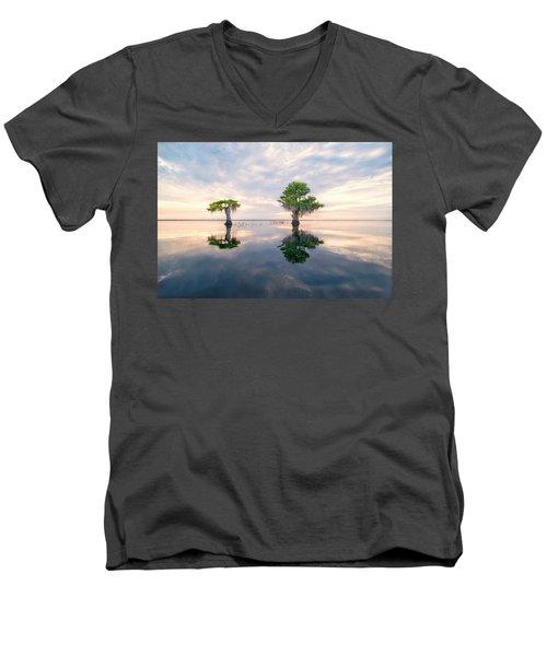 Sunrise Serenity Men's V-Neck T-Shirt