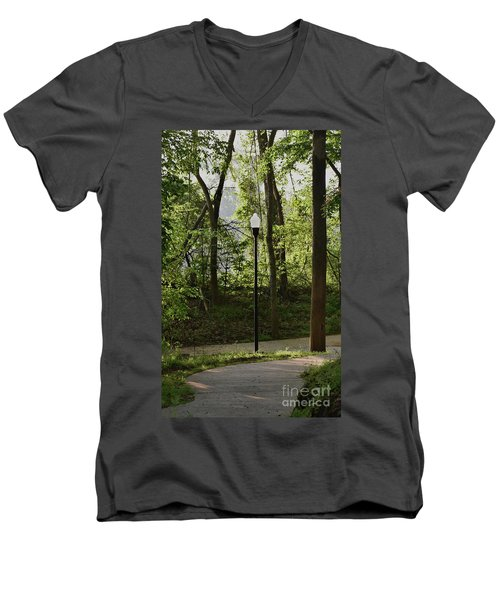 Men's V-Neck T-Shirt featuring the photograph Sunrise Service by Skip Willits