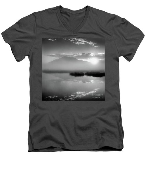 Sunrise Men's V-Neck T-Shirt by Tatsuya Atarashi