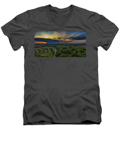 Sunrise Thru The Clouds Men's V-Neck T-Shirt