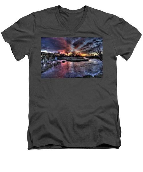 Sunrise Trestle #1 Men's V-Neck T-Shirt
