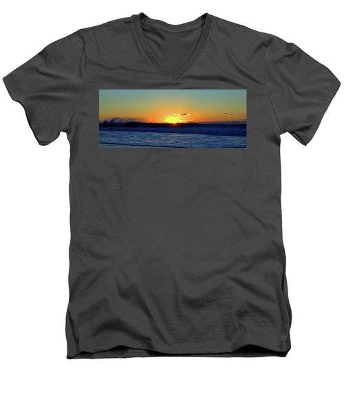 Sunrise Wave I I I Men's V-Neck T-Shirt