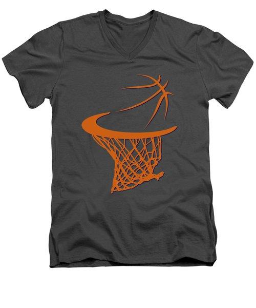 Suns Basketball Hoop Men's V-Neck T-Shirt by Joe Hamilton