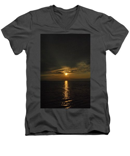 Sun's Reflection Men's V-Neck T-Shirt
