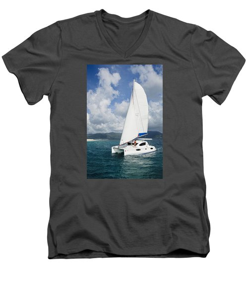 Sunsail Catamaran Men's V-Neck T-Shirt