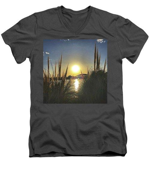 Sunset @ Copper Sky Men's V-Neck T-Shirt