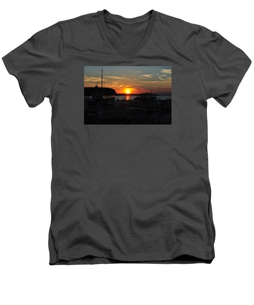 Harbor In Ephraim Men's V-Neck T-Shirt