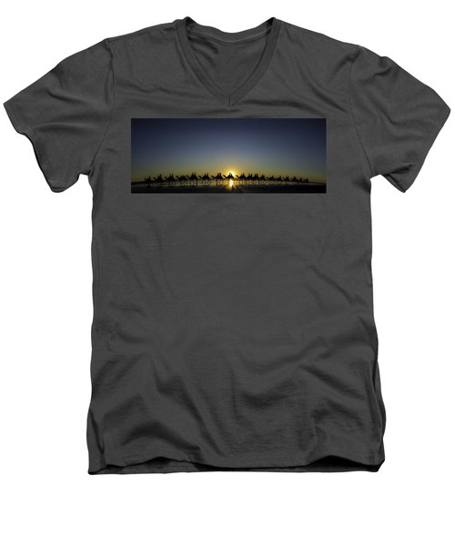 Sunset At Cable Beach Men's V-Neck T-Shirt