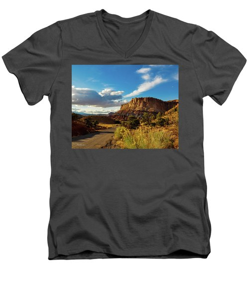 Sunset At Capitol Reef Men's V-Neck T-Shirt