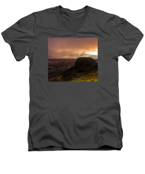 Sunset At Cavehill Men's V-Neck T-Shirt