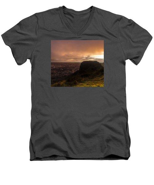 Sunset At Cavehill Men's V-Neck T-Shirt