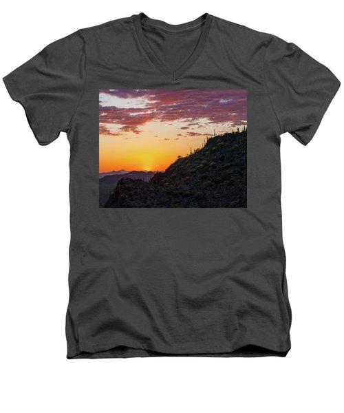 Sunset At Gate's Pass Men's V-Neck T-Shirt