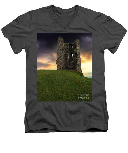 Sunset At Hadleigh Castle Men's V-Neck T-Shirt