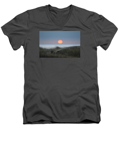 Sunset At Halfmoon Bay Men's V-Neck T-Shirt
