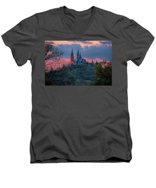 Sunset At Holy Hill Men's V-Neck T-Shirt
