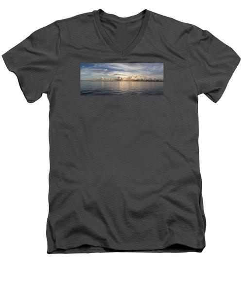 Sunset At Key Largo Men's V-Neck T-Shirt