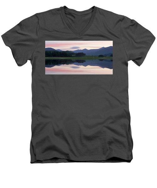Sunset At Loch Tulla Men's V-Neck T-Shirt by Stephen Taylor