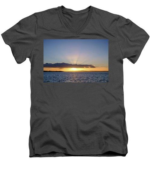 Sunset At Lough Derg Men's V-Neck T-Shirt