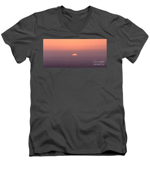 Sunset At Pacifica Men's V-Neck T-Shirt