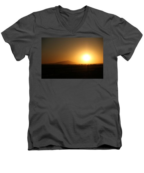 Sunset At Roswell New Mexico  Men's V-Neck T-Shirt