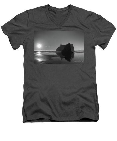 Sunset At Ruby Beach #2 Men's V-Neck T-Shirt