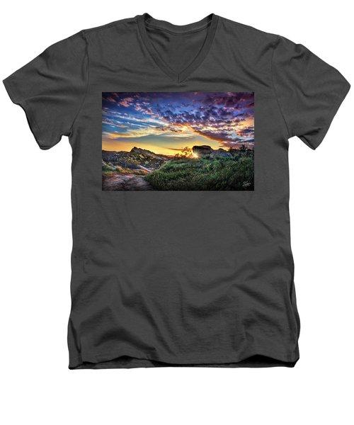 Sunset At Sage Ranch Men's V-Neck T-Shirt