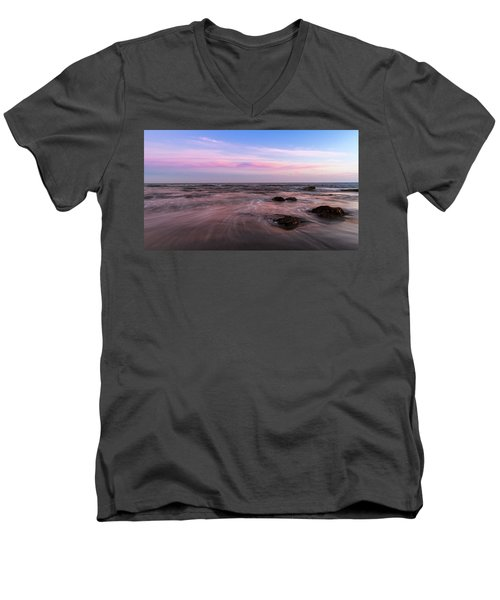 Sunset At The Atlantic Men's V-Neck T-Shirt by Andreas Levi