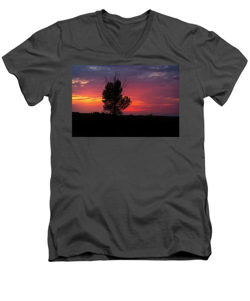 Sunset At The Danube Banks Men's V-Neck T-Shirt