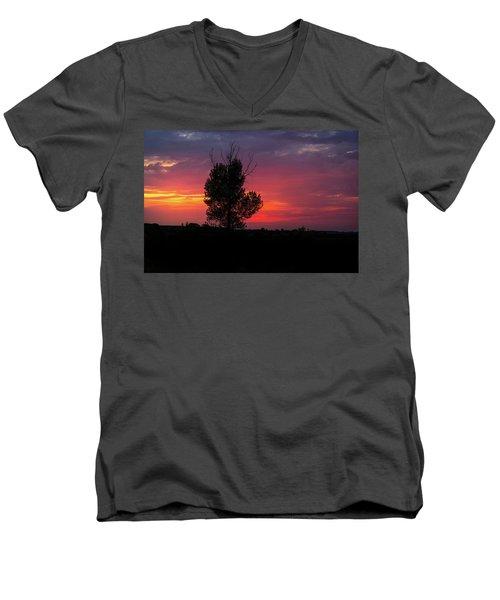 Sunset At The Danube Banks Men's V-Neck T-Shirt