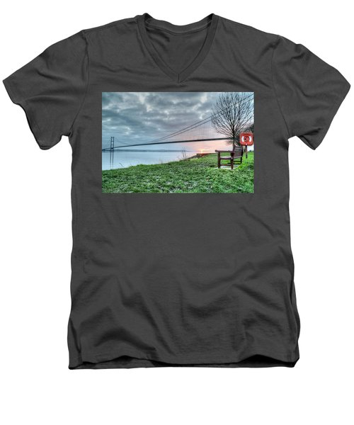 Sunset At The Humber Bridge Men's V-Neck T-Shirt
