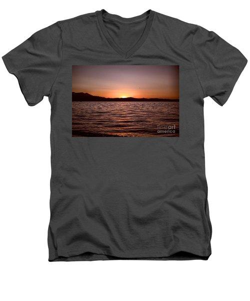 Sunset At The Lake 2 Men's V-Neck T-Shirt
