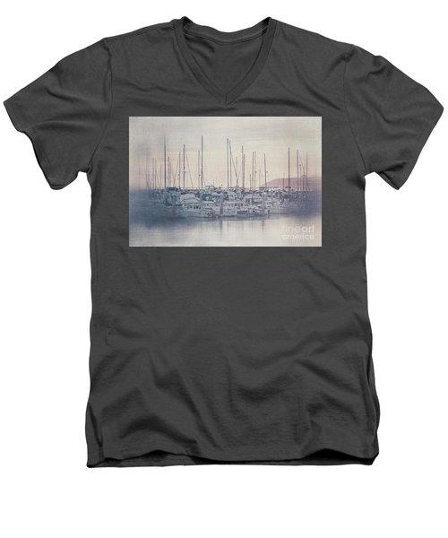Sunset At The Marina Men's V-Neck T-Shirt