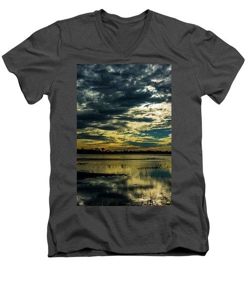 Sunset At The Wetlands Men's V-Neck T-Shirt