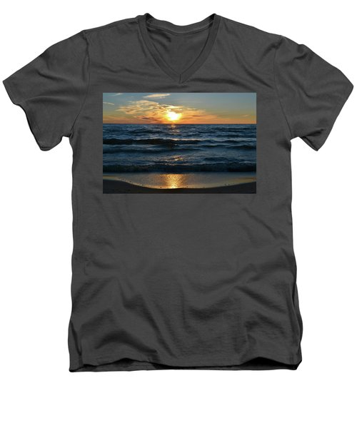 Sunset At Wasaga Beach June 21-2017  Men's V-Neck T-Shirt