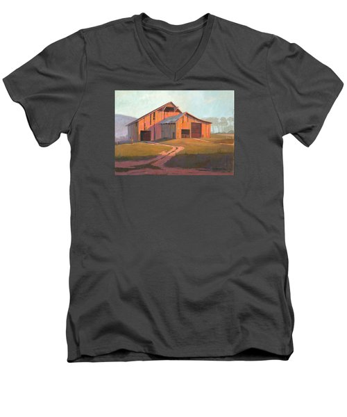 Sunset Barn Men's V-Neck T-Shirt by Michael Humphries