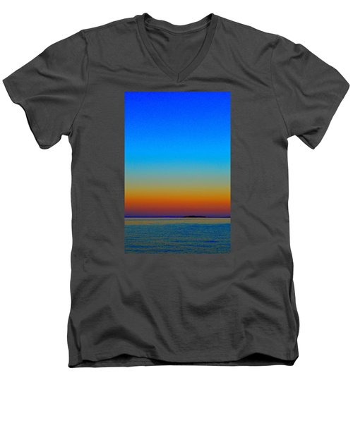 Men's V-Neck T-Shirt featuring the photograph Sunset Blend South East 3  by Lyle Crump