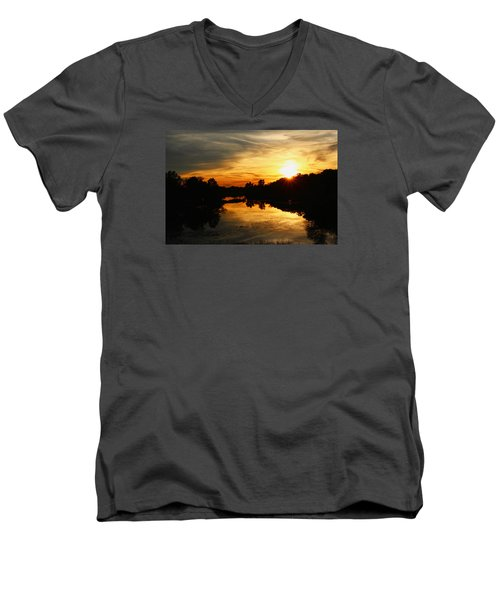Sunset Bliss Men's V-Neck T-Shirt by Robert Carey