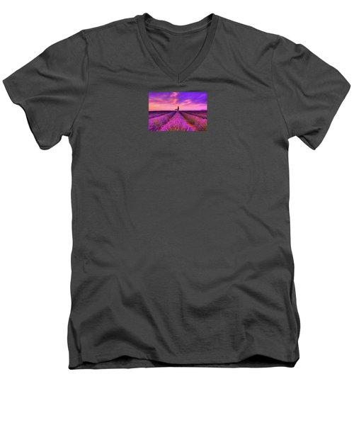 Sunset Blues Men's V-Neck T-Shirt by Midori Chan