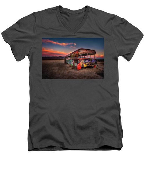Sunset Bus Tour Men's V-Neck T-Shirt