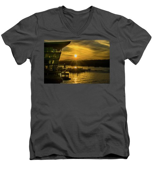Sunset By The Convention Centre Men's V-Neck T-Shirt