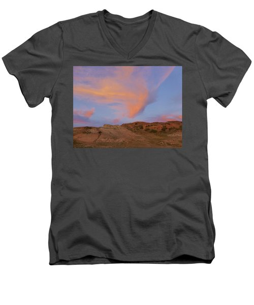 Sunset Clouds, Badlands Men's V-Neck T-Shirt