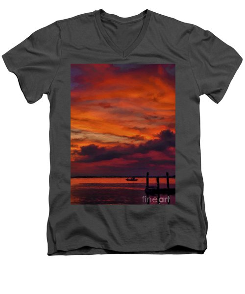 Sunset Cruise  Men's V-Neck T-Shirt