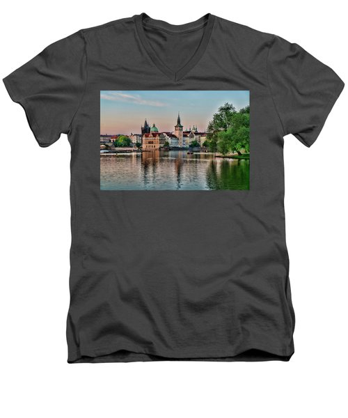 Sunset Cruise Prague Men's V-Neck T-Shirt
