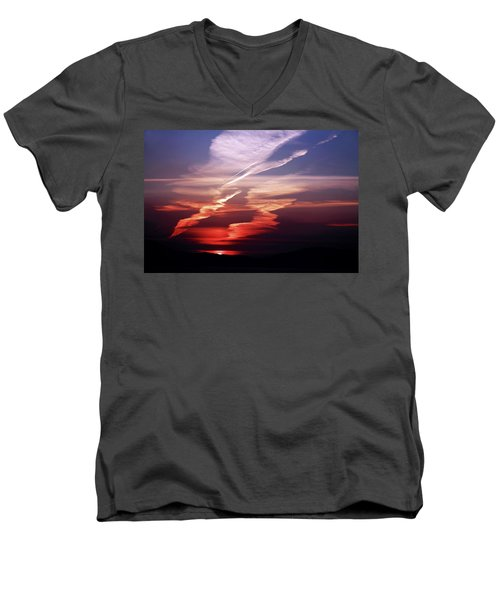 Sunset Dance Men's V-Neck T-Shirt by Aidan Moran