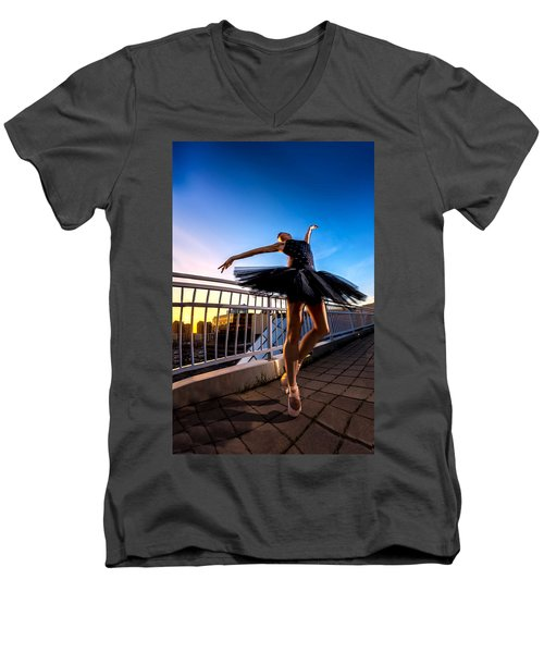 Sunset Dancer Men's V-Neck T-Shirt