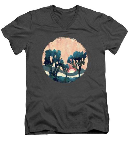 Sunset Desert Canyon Men's V-Neck T-Shirt