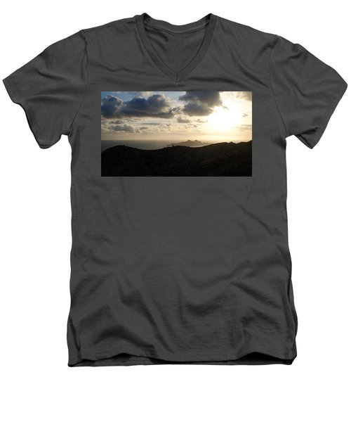 Sunset Dragon Island Men's V-Neck T-Shirt
