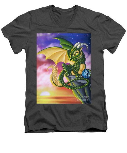 Sunset Dragon Men's V-Neck T-Shirt